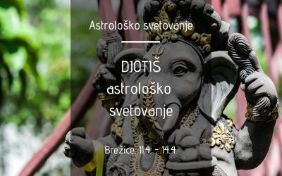Djotiš – astrološko svetovanje v Brežicah (11.4.-14.4.)