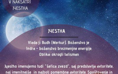Polna luna (5.6.) ob 21:12 v nakšatri Jyestha 🌝