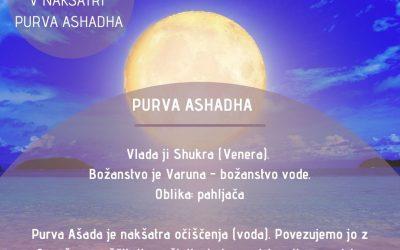 Polna luna v nakšatri Purva Ashadha (5.7.) ob 6:41